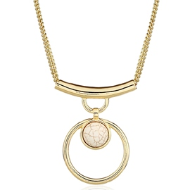 Ericdress Alloy Circle Pendant Turquoise Necklace