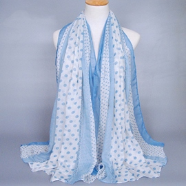 Ericdress Classic Dots Design Voile Muslim Scarf