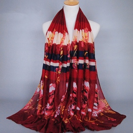 Ericdress Colorful Voile Stripe Printing Scarf