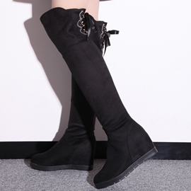 Ericdress Pretty Back Lace up Thigh High Boots