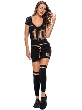Ericdress Sexy Deep V-Neck Number Costume