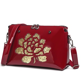 Ericdress Hollow Sequins Rose Shoulder Bag