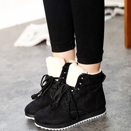 Ericdress Suede Lace up Ankle Boots