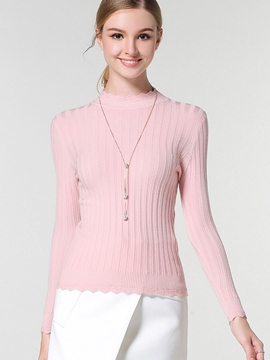 Ericdress Crew Neck Slim Knitwear
