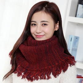 Ericdress Colorful Wool Yarn Fringed Neck Warmer