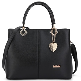 Ericdress Peach Heart Pendant PU Handbag