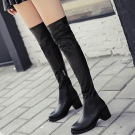 Ericdress Euramerican Round Toe Thigh High Boots