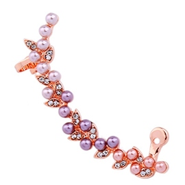 Ericdress Pearl Inlaid Rose Gold Ear Cuff