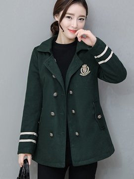 Ericdress Double-Breasted Loose Polo Coat