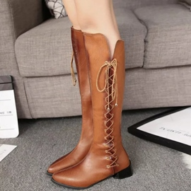 Ericdress Trendy Point Toe Thigh High Boots