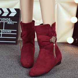 Ericdress Suede Rhinestone Tassels Ankle Boots