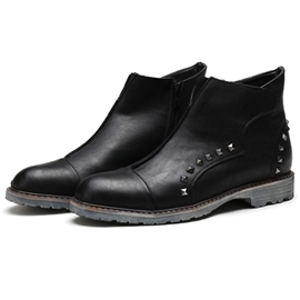 Ericdress PU Rivets Mid Calf Men's Boots