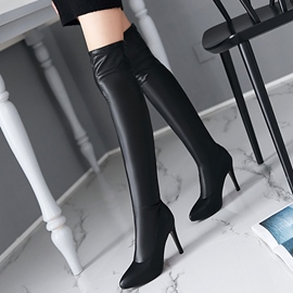 Ericdress Sexy PU Point Toe Thigh High Boots