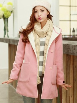 Ericdress Loose Sweet Hooded Coat