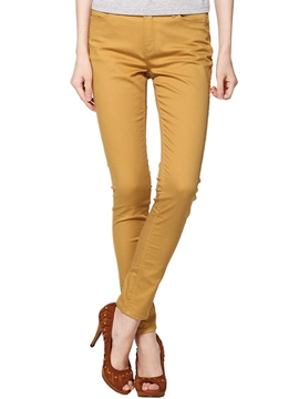 Ericdress Solid Color Slim Pants