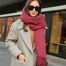 Ericdress Pure Color Imitation Cashmere Long Scarf