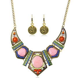 Ericdress Colorful Geometric Ceramic Jewelry Set