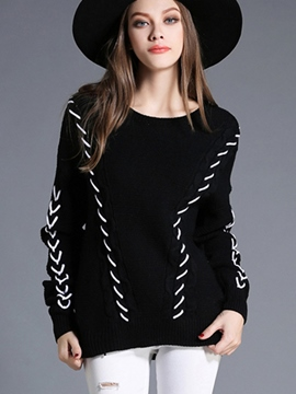 Ericdress Twist Detail Pullover Loose Knitwear