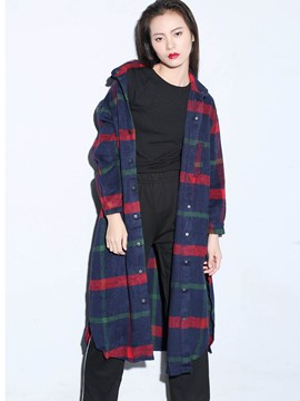 Ericdress Plaid Boyfriend Style Long Blouse