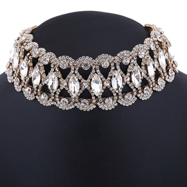 Ericdress Sparkling Rhinestone Choker Necklace