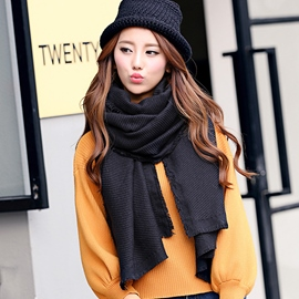 Ericdress Pure Color All-Matched Thicken Scarf