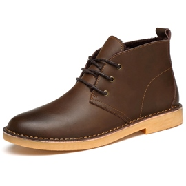 Ericdress Simple Round Toe Men's Boots
