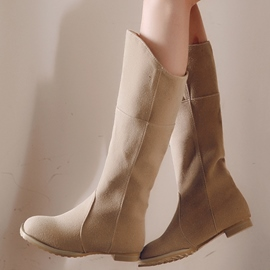 Ericdress Pretty Girl Round Toe Knee High Boots