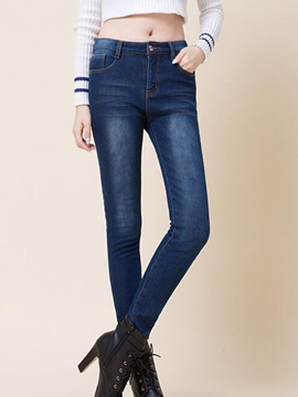 Ericdress Full Length Skinny Denim Jeans