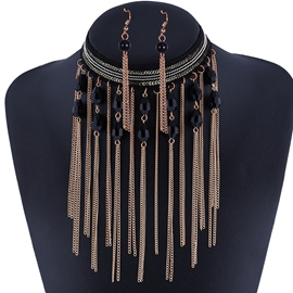 Ericdress Retro Long Chain Tassels Jewelry Set