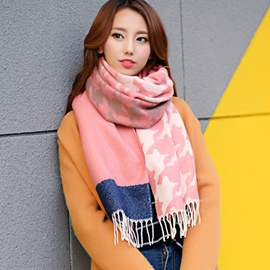 Ericdress Oversized Color Block Shawl Scarf