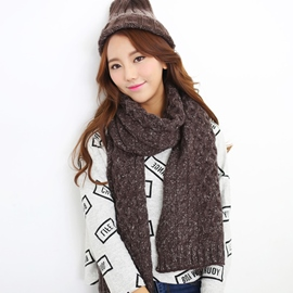 Ericdress Twist Thick Woolen Yarn Scarf