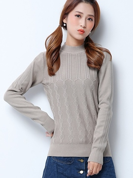 Ericdress Crew Neck Casual Knitwear