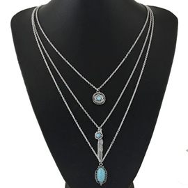 Ericdress Simple Three Layers Chain Necklace