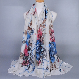 Ericdress Muslim Peony Flower Design Women's Scarf