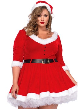Ericdress V-Neck Bead Belt Santa Cosplay Christmas Costume