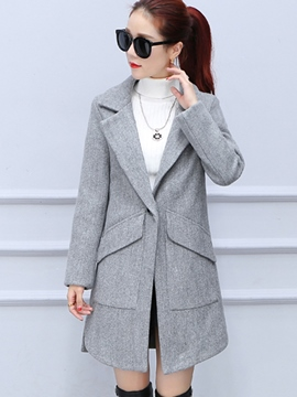 Ericdress Polo Slim One-Button Plain Coat