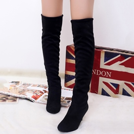 Ericdress Sexy Suede Point Toe Thigh High Boots