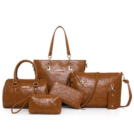 Ericdress Vogue Carving Floral Embossed Handbags(6 Bags)
