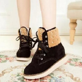 Ericdress Suede Lace up Martin Boots