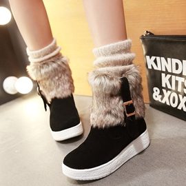 Ericdress Charming Furry Flat Snow Boots