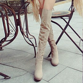 Ericdress Pretty Chunky Heel Over The Knee Boots