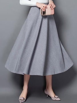 Ericdress Pleated Expansion Maxi Skirt