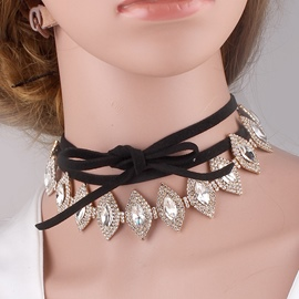 Ericdress Alloy Diamante Choker Necklace