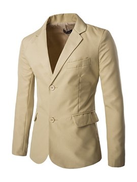 Ericdress Solid Color Single-Breasted Formal Men's Blazer