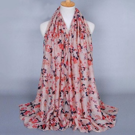 Ericdress Elegant Cotton Flowers Printed Scarf