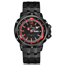 Ericdress Black Steel Strip Waterproof Men's Watch