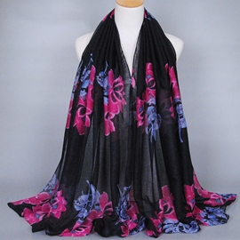 Ericdress Large Flowers Printed Long Women's Scarf
