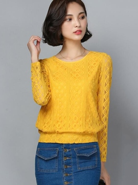 Ericdress Loose Solid Color Blouse