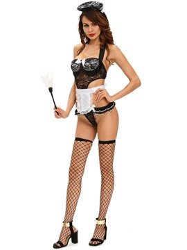 Ericdress Sexy Halter Lace French Maid Cosplay Costume