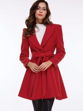Ericdress Vintage Belt Coat